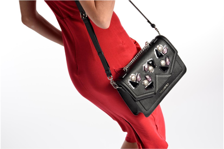 Sacs à main Karl Lagerfeld Klassik Diamond Shoulder bag Noir vue haut
