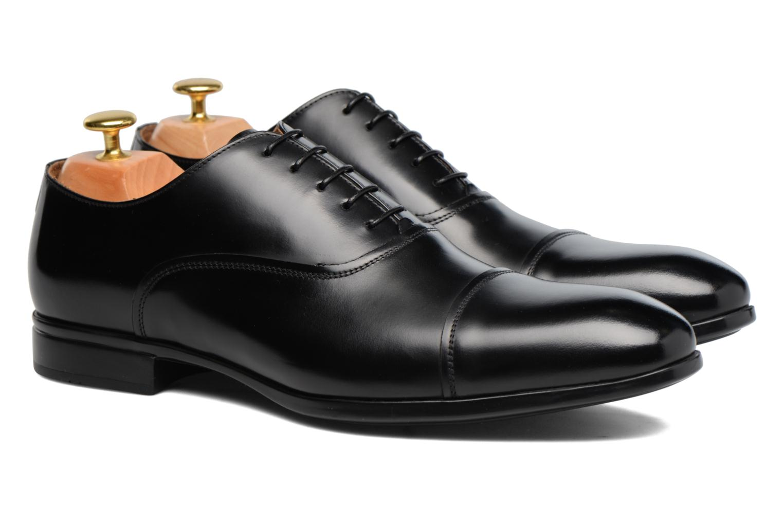 Chaussures à lacets Doucal's Oscar Noir vue 3/4