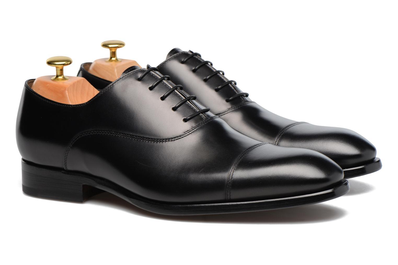 Chaussures à lacets Doucal's Pierre Noir vue 3/4