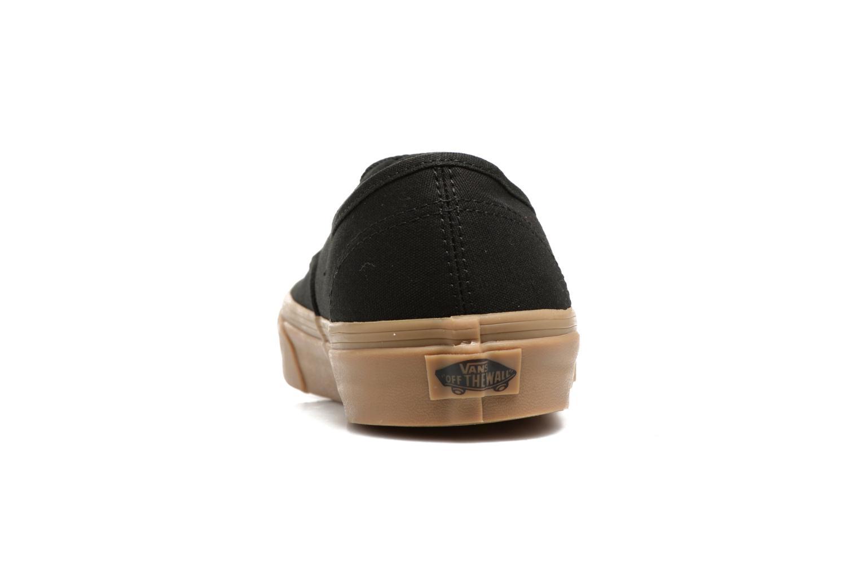 Baskets Vans Authentic Gum Noir vue droite