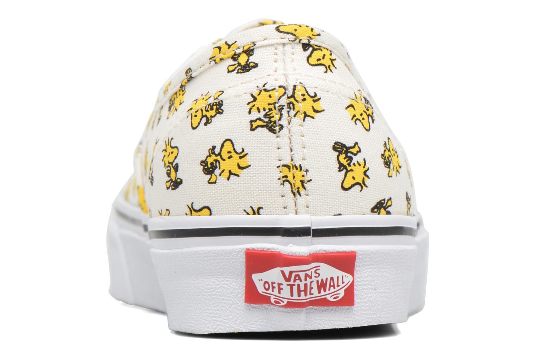 Baskets Vans Authentic w x Peanuts Jaune vue droite