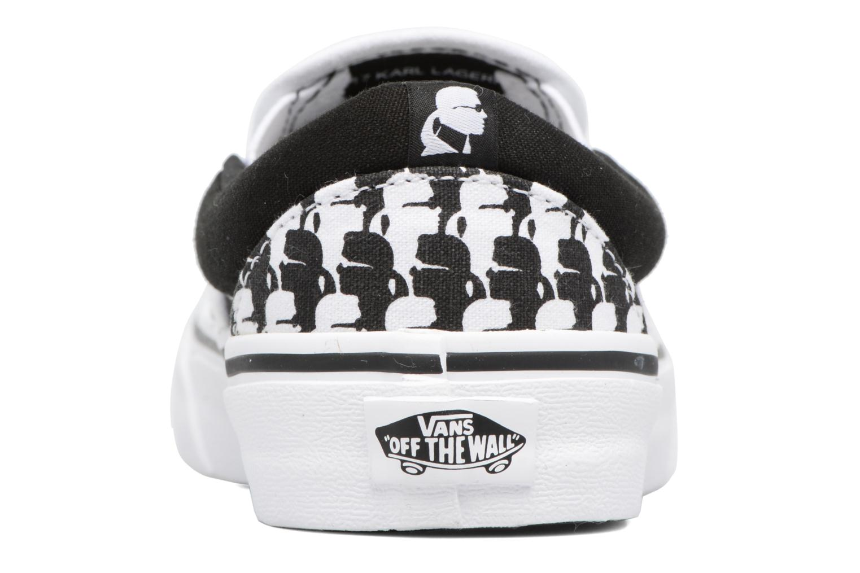 Baskets Vans Classic Slip-On W x Karl Lagerfeld Noir vue droite