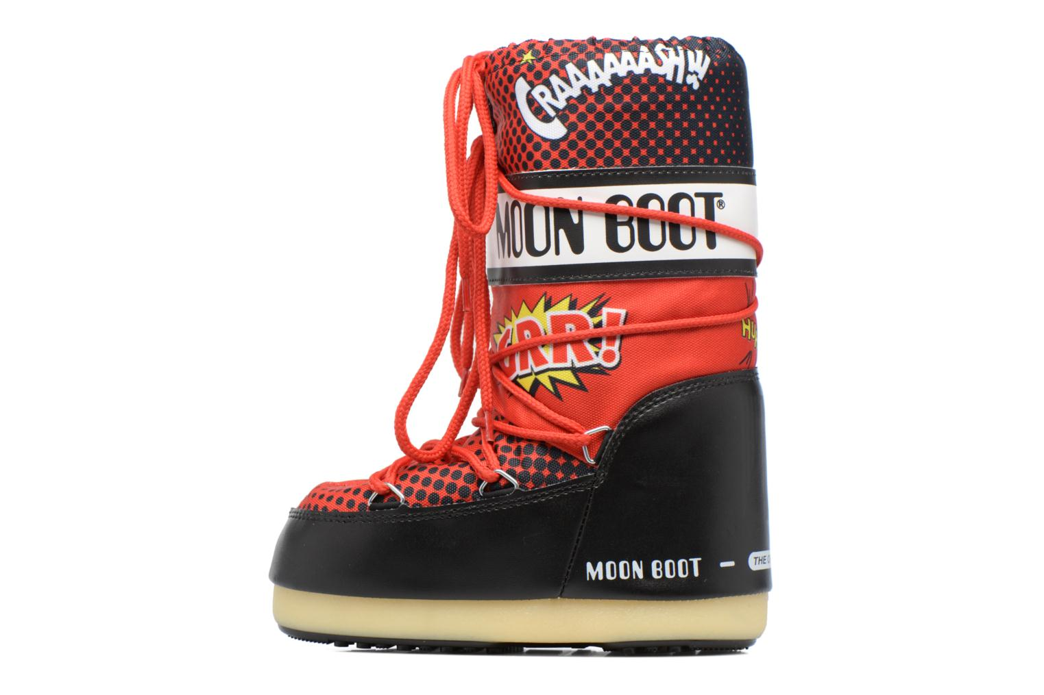 Sport shoes Moon Boot Jr Comics Red front view