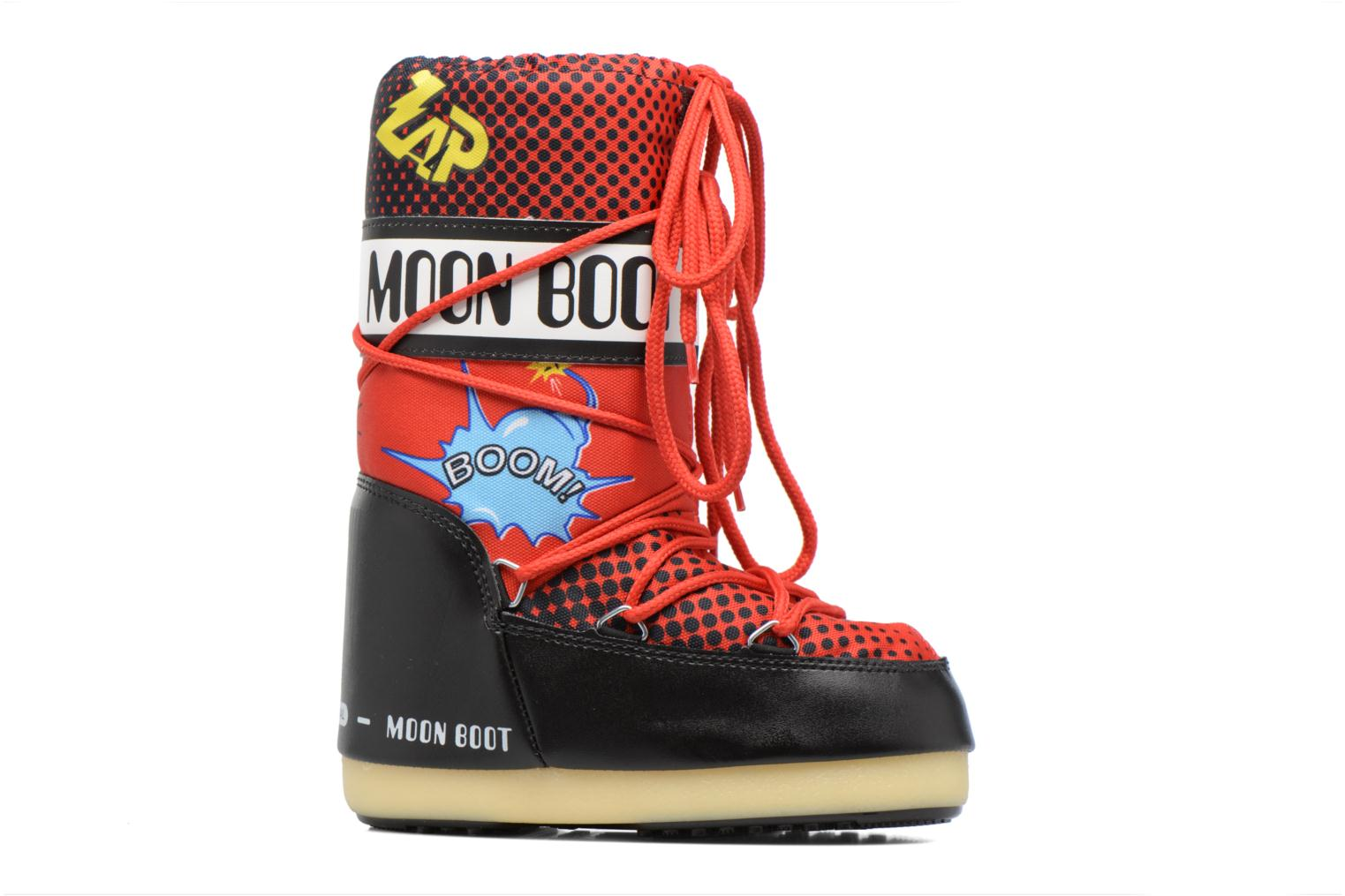 Sport shoes Moon Boot Jr Comics Red back view