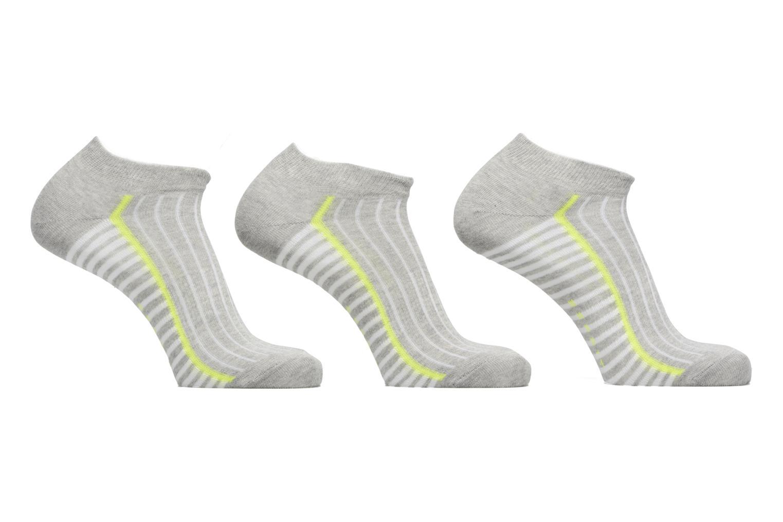 Chaussettes Courtes Striped Sport Lot de 3 3400 Light grey