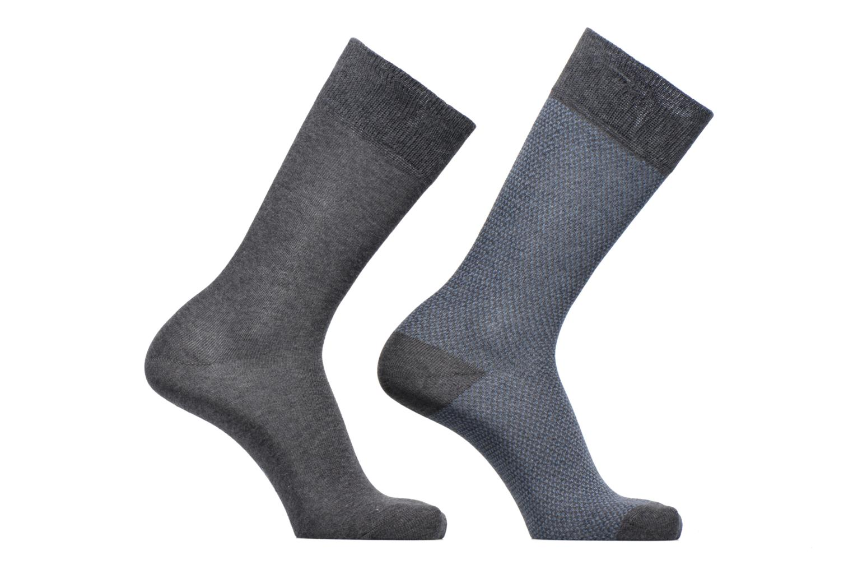 Sokken en panty's Esprit Chaussettes Piquet Lot de 2 Grijs detail