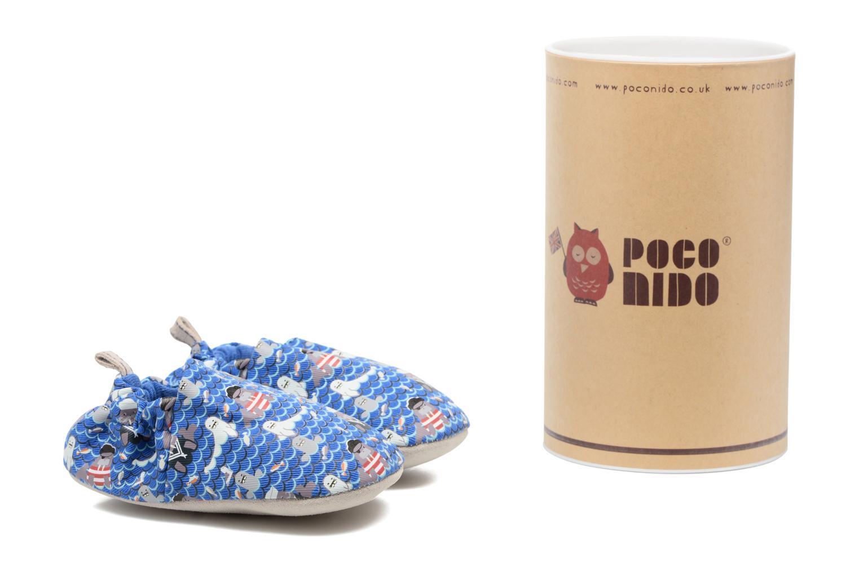 Chaussons Poco Nido Seals And Walrus Bleu vue détail/paire