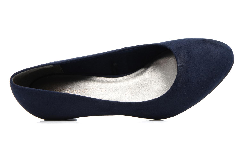 Escarpins Tamaris Meliana Bleu vue gauche