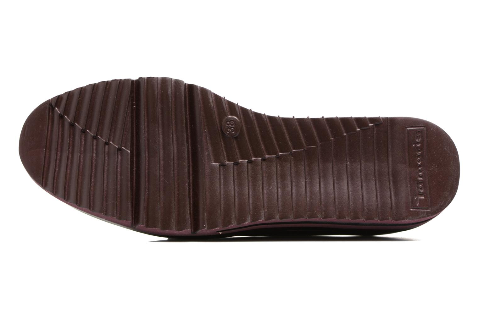 Loafers Tamaris Arwena Burgundy view from above