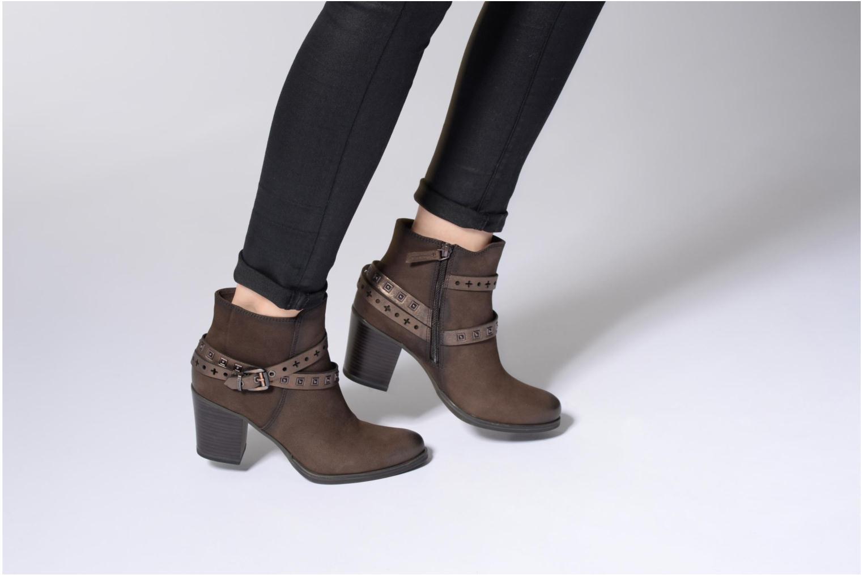 Bottines et boots Tamaris Adenael Marron vue bas / vue portée sac