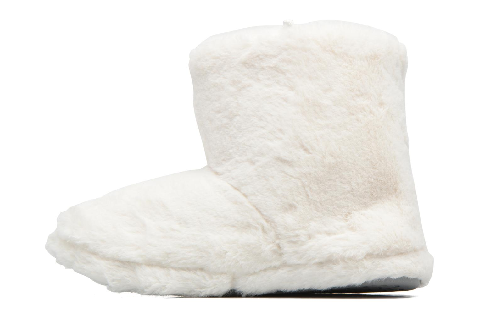 Chaussons Boots Femme Etoile Blanc