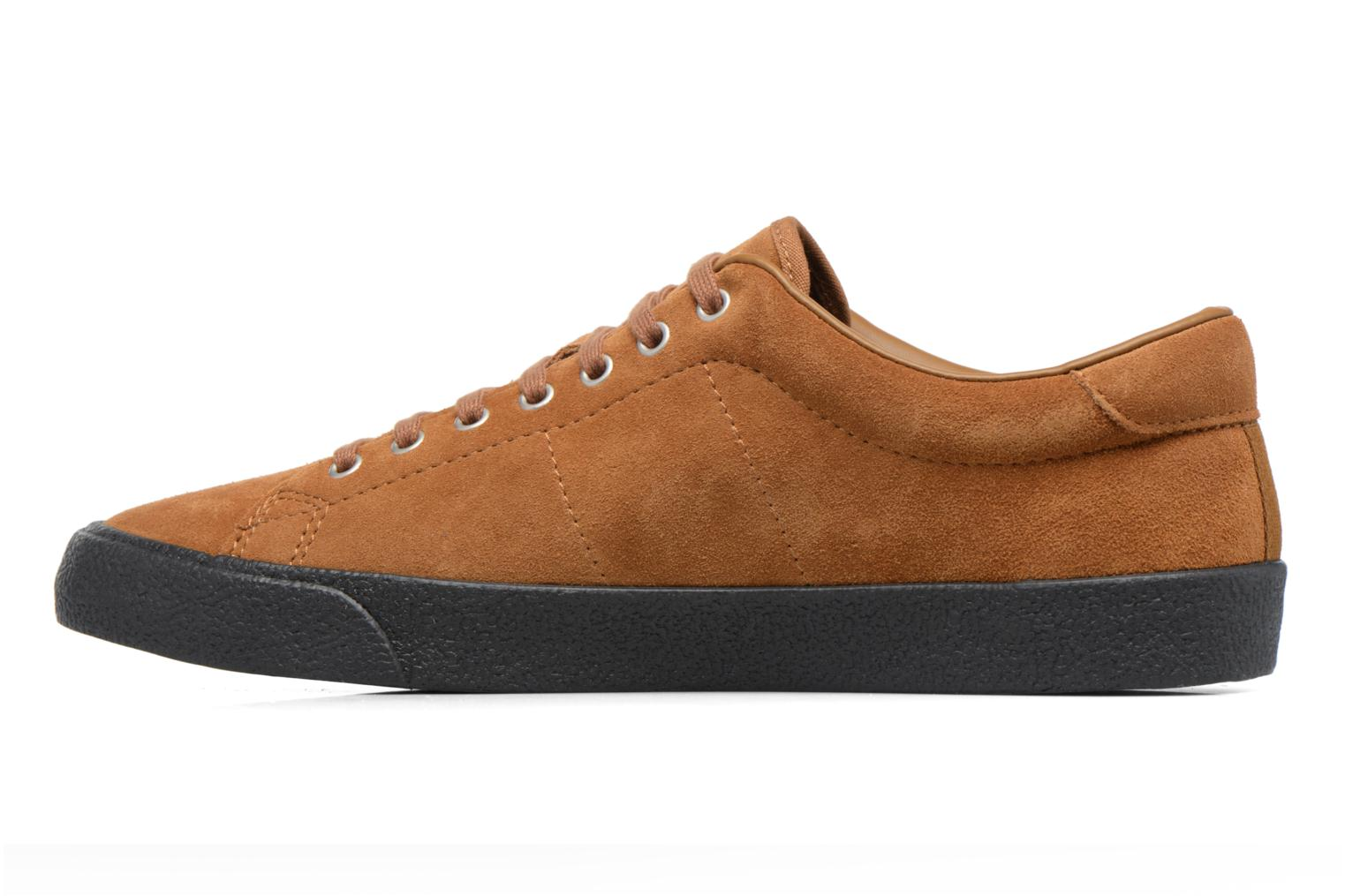 Baskets Fred Perry UNDERSPIN SUEDE Marron vue face