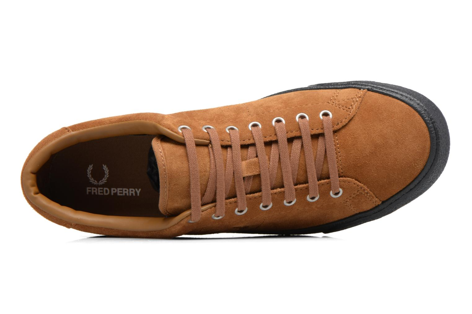 Baskets Fred Perry UNDERSPIN SUEDE Marron vue gauche