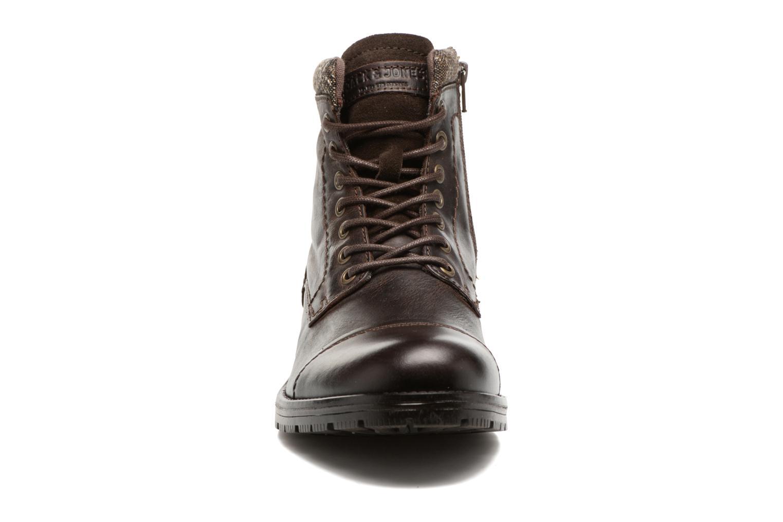 Bottines et boots Jack & Jones JFWMARLY LEATHER Marron vue portées chaussures