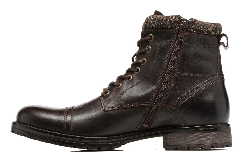 Bottines et boots Jack & Jones JFWMARLY LEATHER Marron vue face