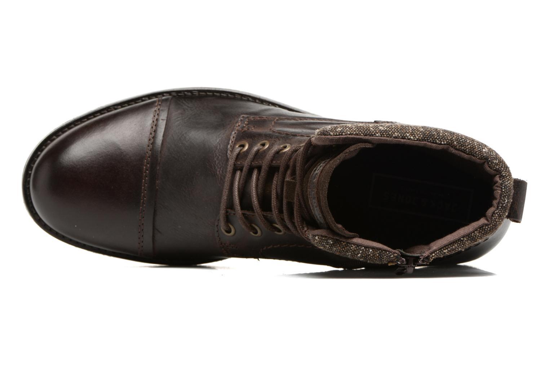 Bottines et boots Jack & Jones JFWMARLY LEATHER Marron vue gauche