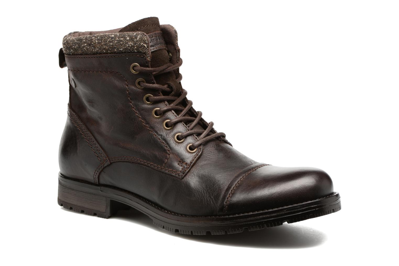 Bottines et boots Jack & Jones JFWMARLY LEATHER Marron vue détail/paire