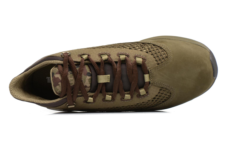 Baskets Timberland Kenetic Fabric/Leather Vert vue gauche