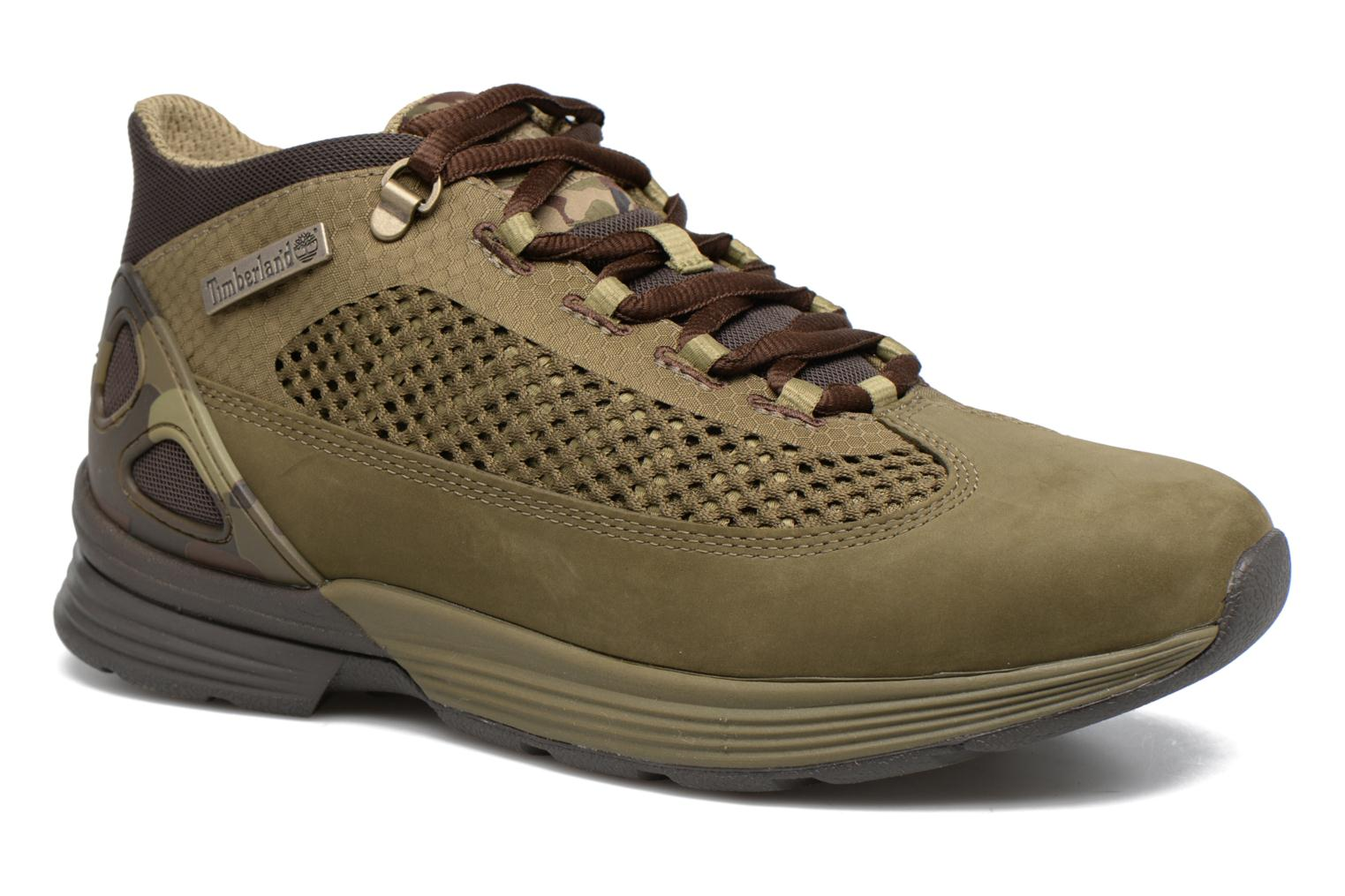 Baskets Timberland Kenetic Fabric/Leather Vert vue détail/paire