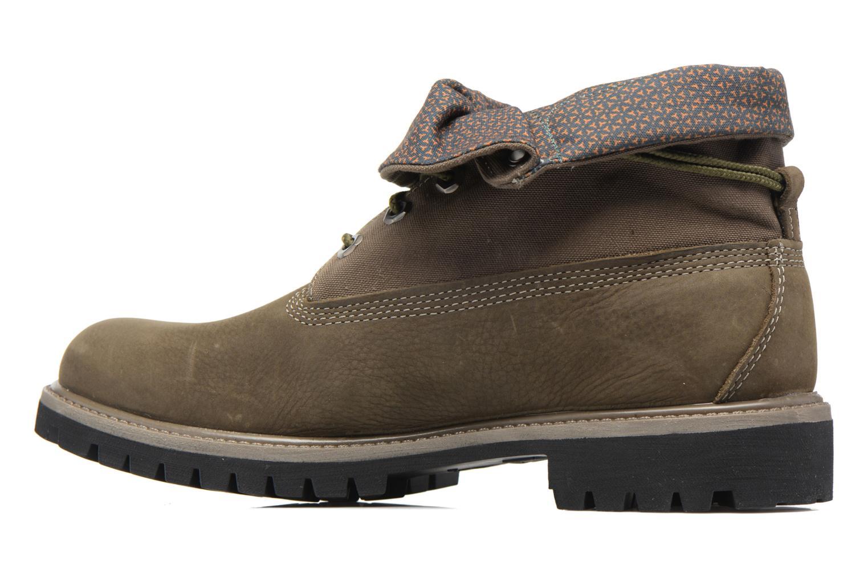 Bottines et boots Timberland Roll Top F/F AF Vert vue face