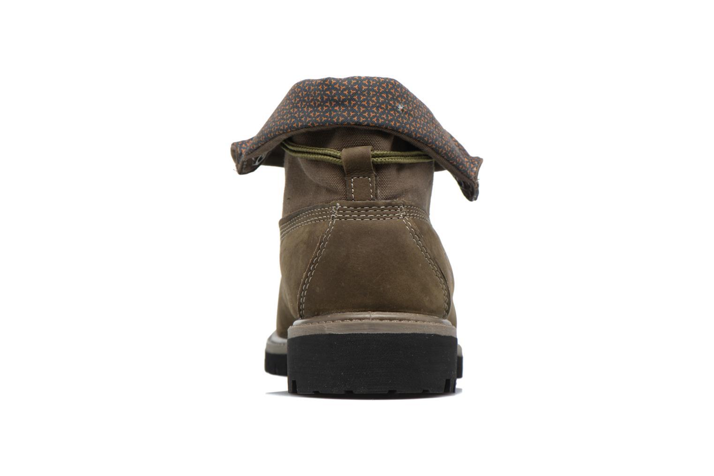 Bottines et boots Timberland Roll Top F/F AF Vert vue droite
