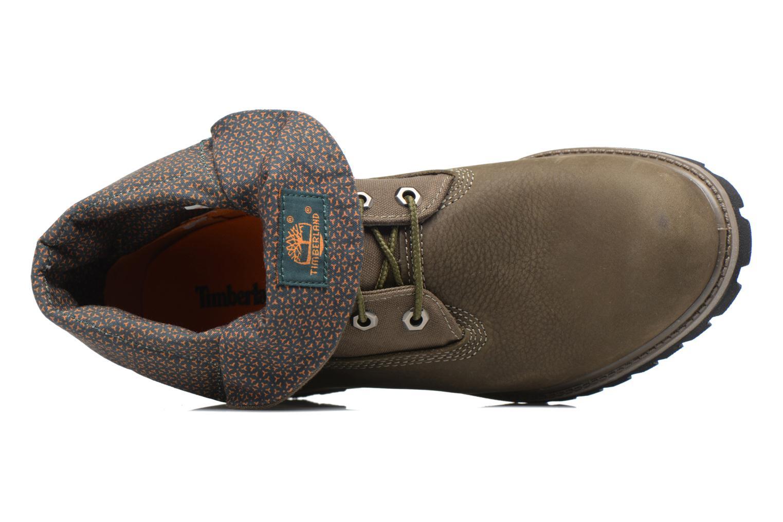 Bottines et boots Timberland Roll Top F/F AF Vert vue gauche