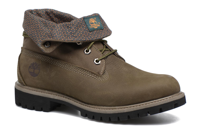 Bottines et boots Timberland Roll Top F/F AF Vert vue détail/paire