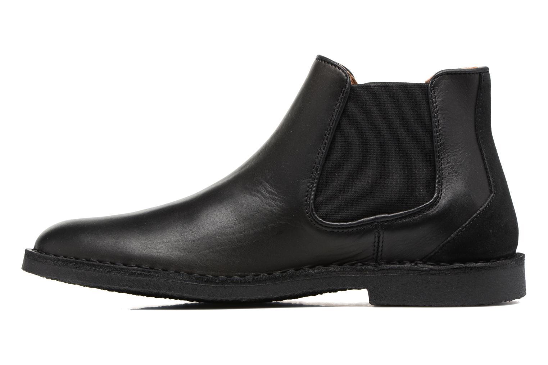 Bottines et boots Selected Homme Royce chelsea leather boot Noir vue face