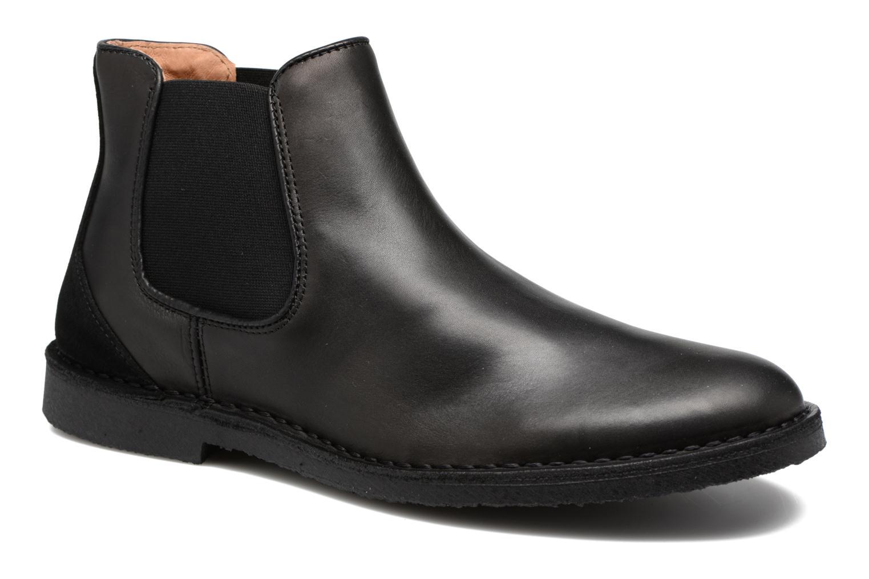Bottines et boots Selected Homme Royce chelsea leather boot Noir vue détail/paire