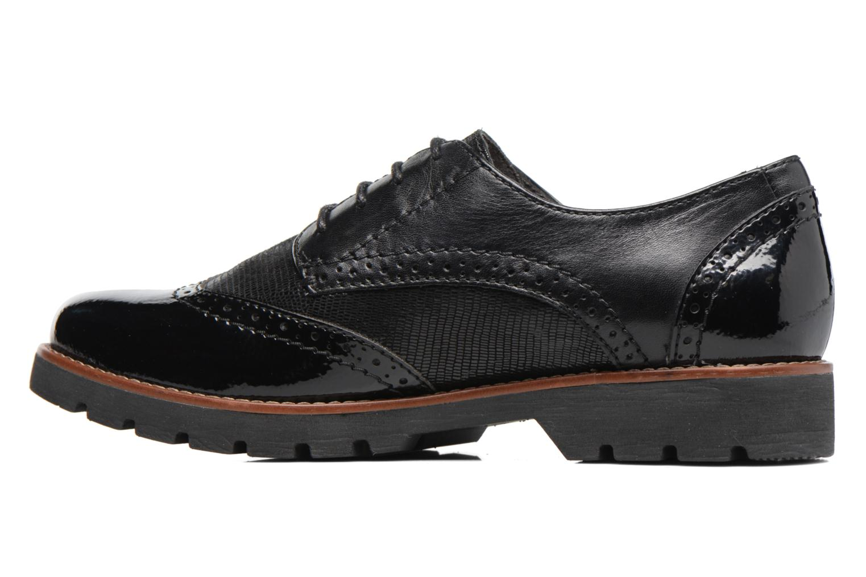 Chaussures à lacets Jana shoes Joséphine Noir vue face