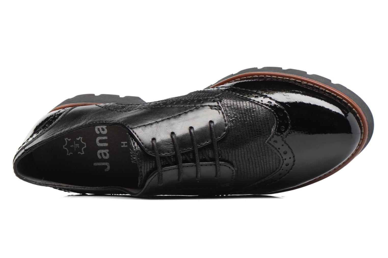 Chaussures à lacets Jana shoes Joséphine Noir vue gauche