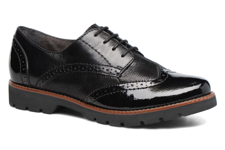 Chaussures à lacets Jana shoes Joséphine Noir vue détail/paire