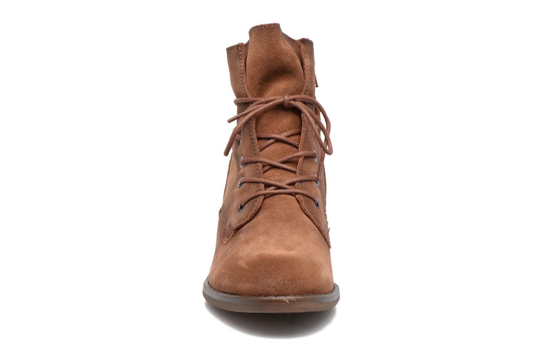 Bottines et boots Jana shoes Marine Marron vue portées chaussures
