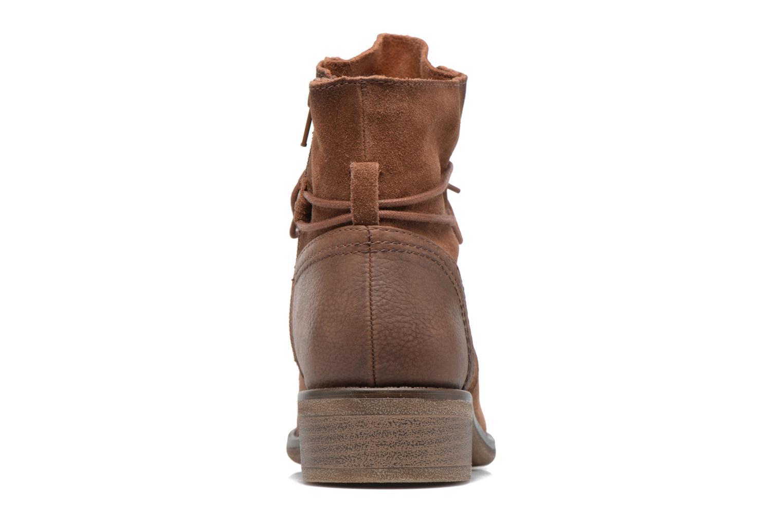 Bottines et boots Jana shoes Marine Marron vue droite