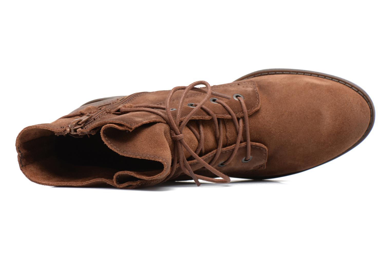 Bottines et boots Jana shoes Marine Marron vue gauche