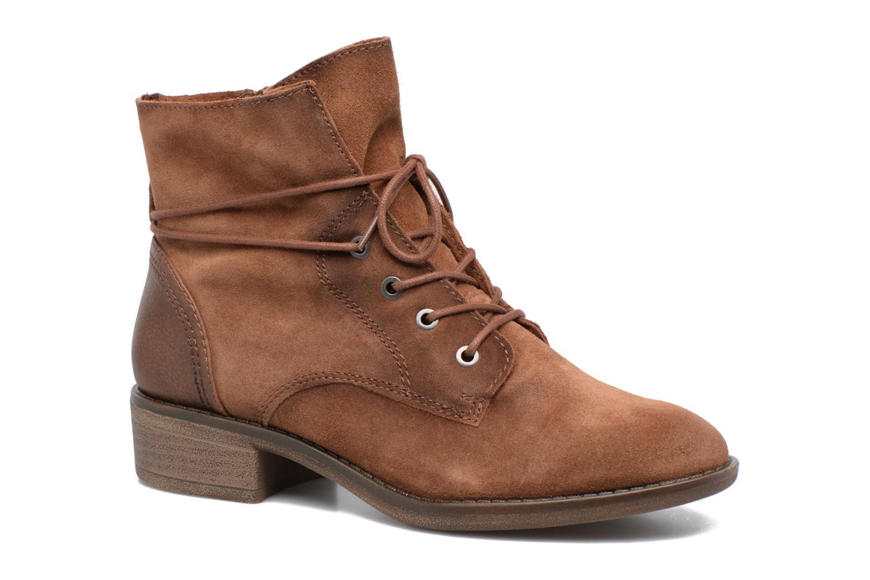Bottines et boots Jana shoes Marine Marron vue détail/paire