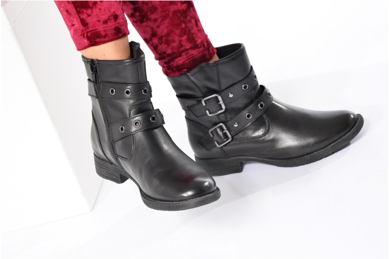 Bottines et boots Jana shoes Nikita Noir vue bas / vue portée sac