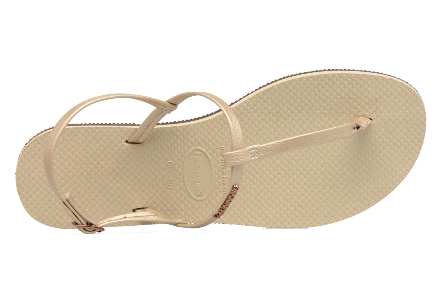 Flip flops Havaianas You Riviera Beige view from the left