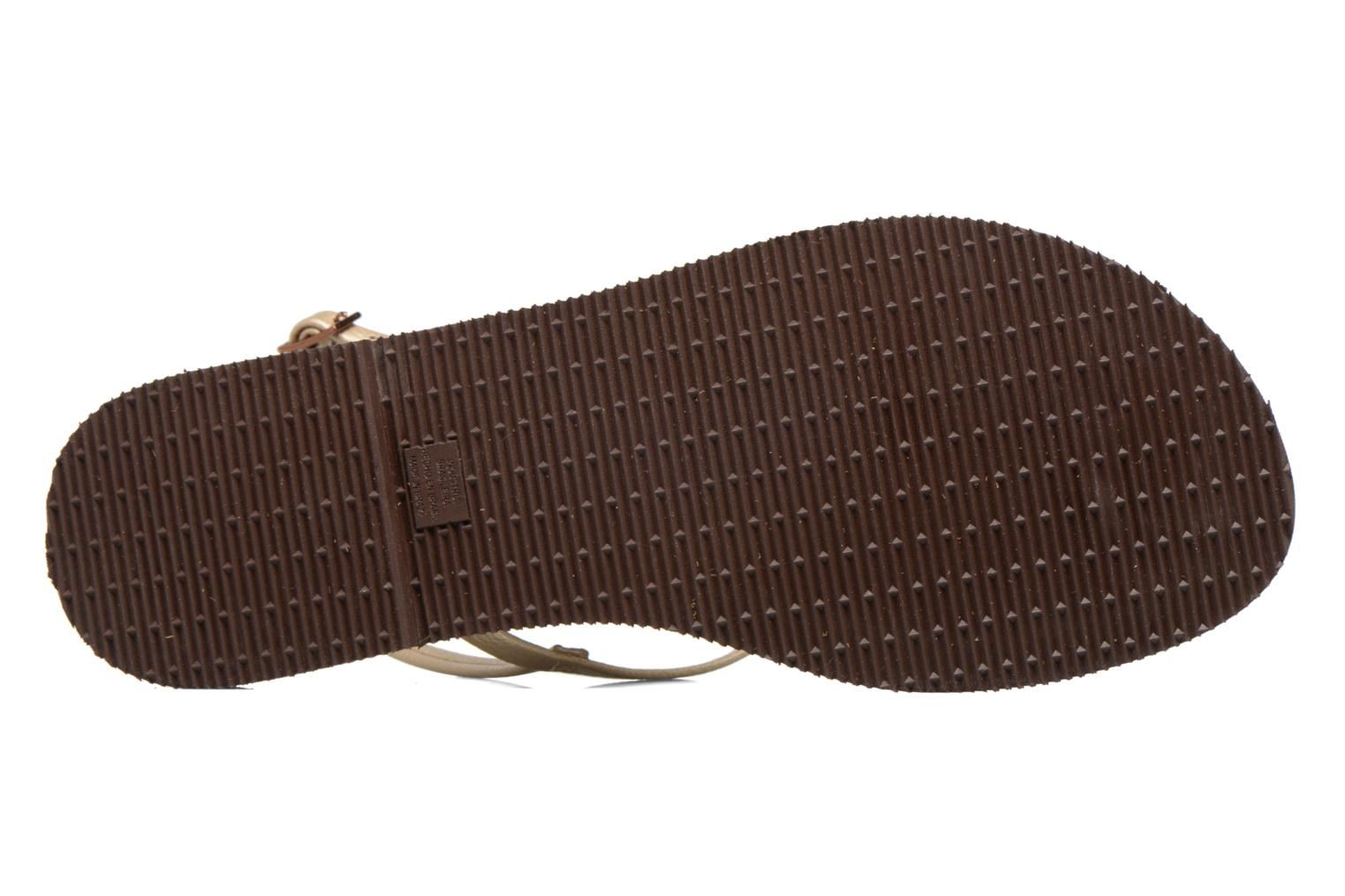 Flip flops Havaianas You Riviera Beige view from above