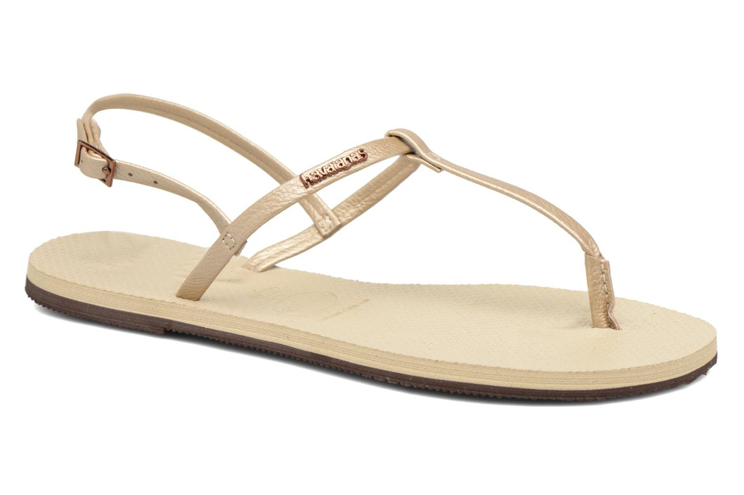 Sandals Havaianas You Riviera Beige detailed view/ Pair view