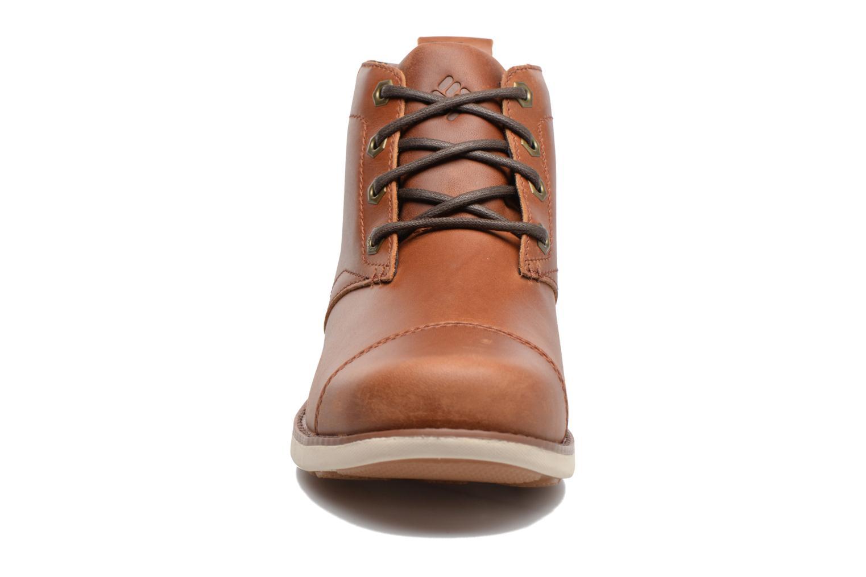 Bottines et boots Columbia Irvington Ltr Chukka Wp Marron vue portées chaussures