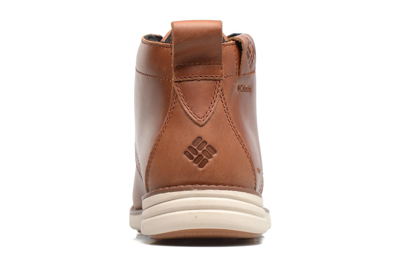 Bottines et boots Columbia Irvington Ltr Chukka Wp Marron vue droite