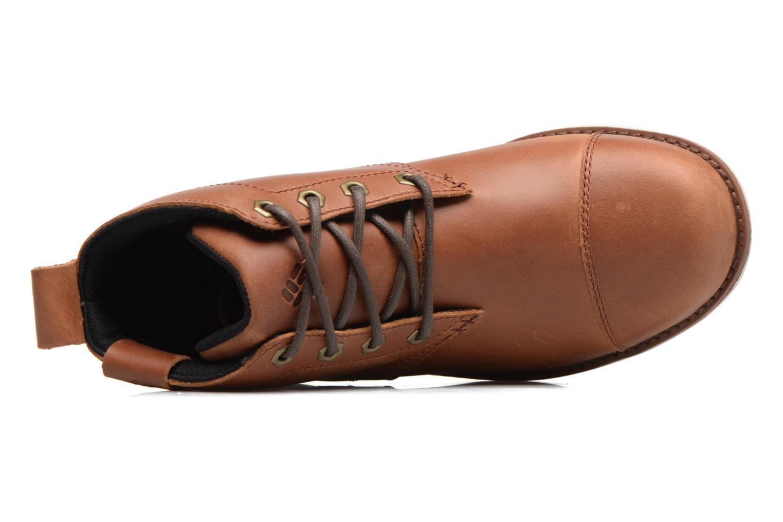 Boots en enkellaarsjes Columbia Irvington Ltr Chukka Wp Bruin links