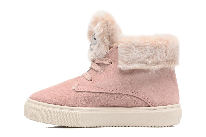 Bottines et boots Victoria Bota Serraje Animales Rose vue face
