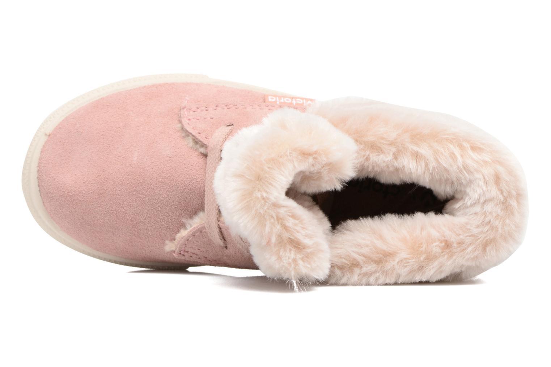 Bottines et boots Victoria Bota Serraje Animales Rose vue gauche