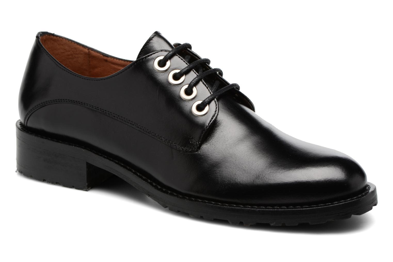 Chaussures à lacets Georgia Rose Toeillet Noir vue détail/paire