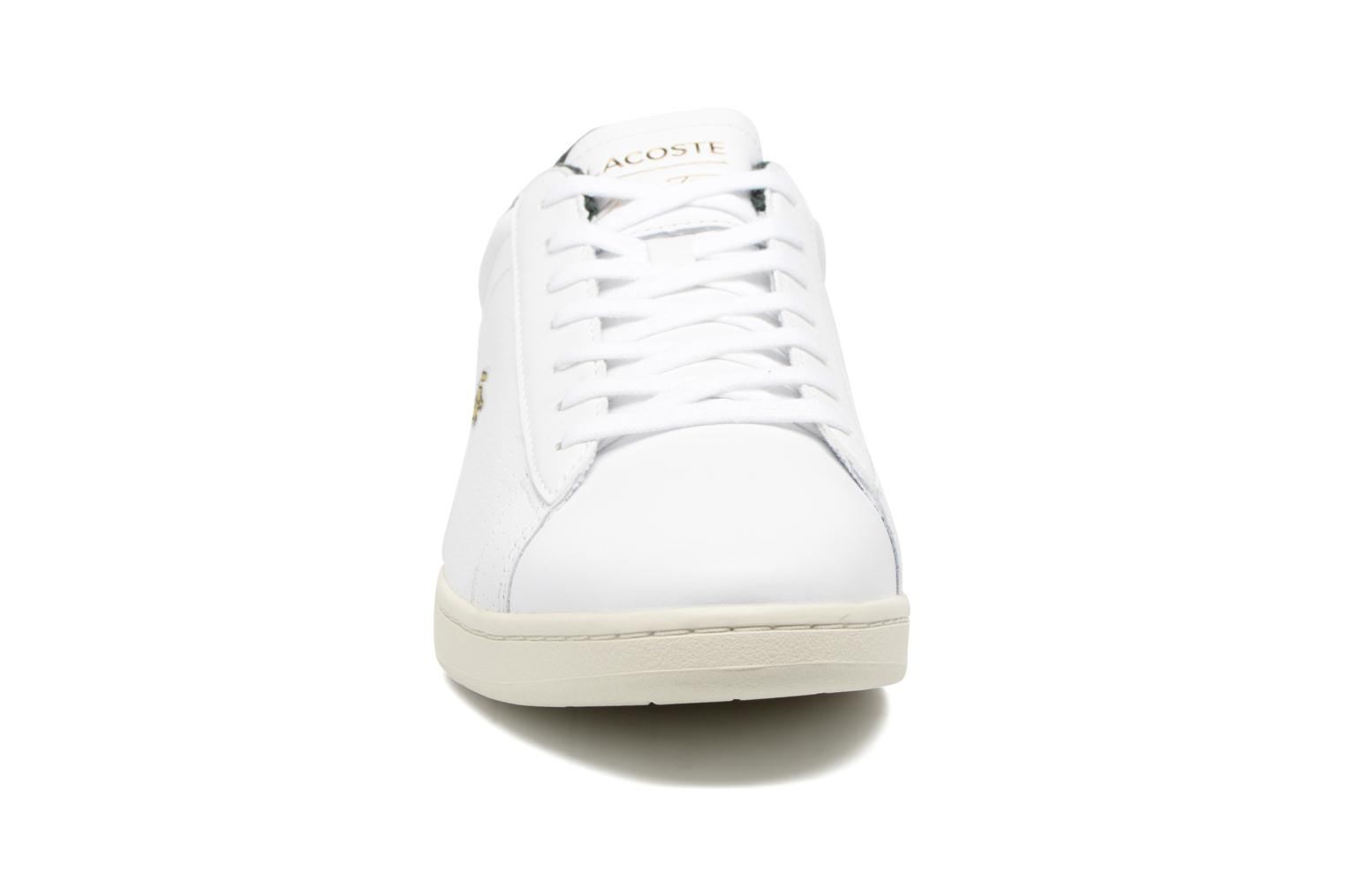 Baskets Lacoste CARNABY EVO 317 2 Blanc vue portées chaussures
