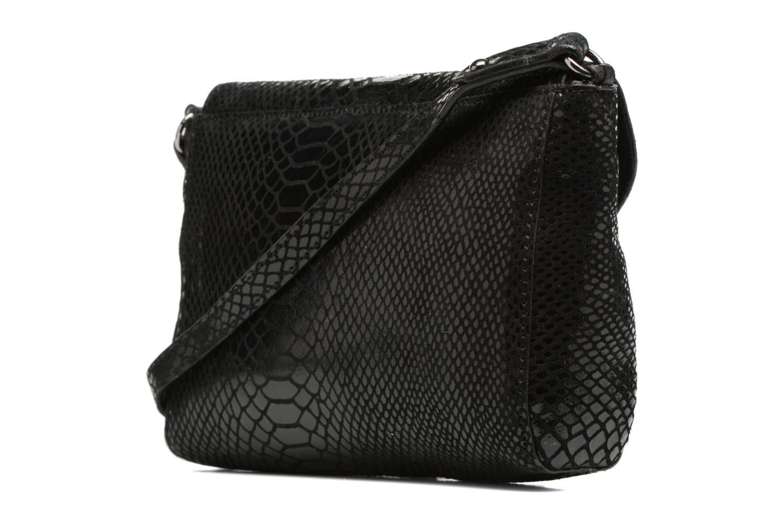 Crossbody Snake Python Black Foil