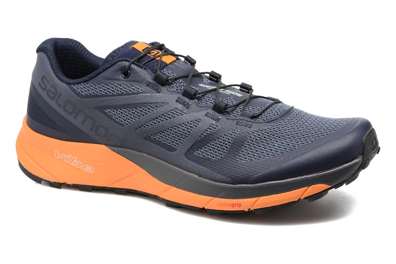 Chaussures de sport Salomon Sense Ride Bleu vue détail/paire