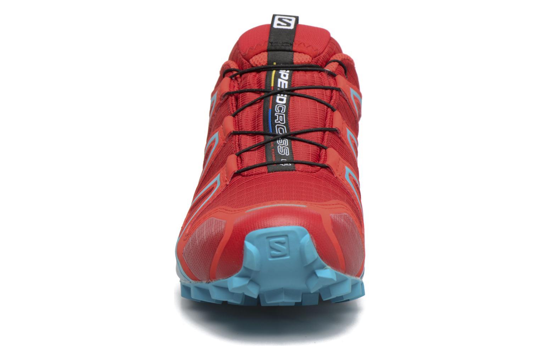 Sportschuhe Salomon Speedcross 4 Gtx W rot schuhe getragen